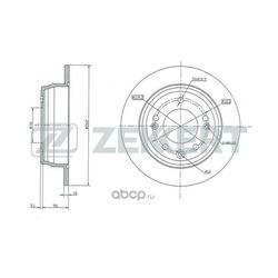 Диск тормозной задний -08/08- (Zekkert) BS5157