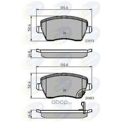 Комплект тормозных колодок, дисковый тормоз (Comline) CBP32008