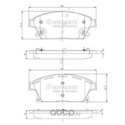 Комплект тормозных колодок, дисковый тормоз (Nipparts) N3600915