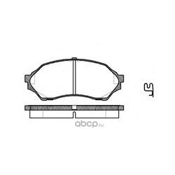 Комплект тормозных колодок, дисковый тормоз (Remsa) 069900
