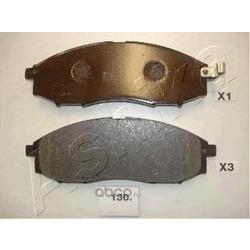 Комплект тормозных колодок, дисковый тормоз (Ashika) 5001130