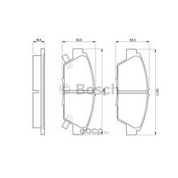 Комплект тормозных колодок, дисковый тормоз (Bosch) 0986424289