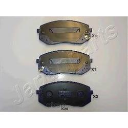 Комплект тормозных колодок, дисковый тормоз (Japanparts) PAK20AF