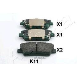 Комплект тормозных колодок, дисковый тормоз (Ashika) 510KK11