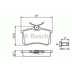 Комплект тормозных колодок, дисковый тормоз (Bosch) 0986494399
