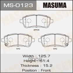 Колодки тормозные (Masuma) MS0123