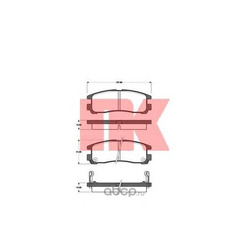 Комплект тормозных колодок, дисковый тормоз (Nk) 223016