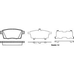 Комплект тормозных колодок, дисковый тормоз (Remsa) 126800