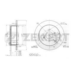 Тормозной диск (Zekkert) BS5262