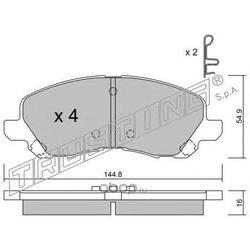 Комплект тормозных колодок, дисковый тормоз (Trusting) 4970