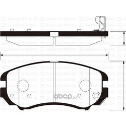 Колодки Hyundai Elantra HD (06-) F (Sangsin brake) SP1202