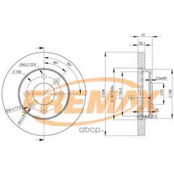 Тормозной диск (FREMAX) BD6572