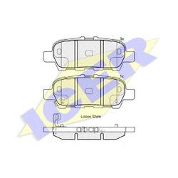 Колодки тормозные дисковые, комплект (Icer) 181901