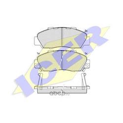 ICER Колодки тормозные передние (Icer) 181019