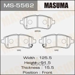 Колодки тормозные (Masuma) MS5562
