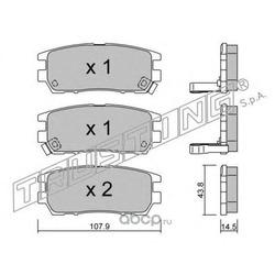 Комплект тормозных колодок, дисковый тормоз (Trusting) 1540
