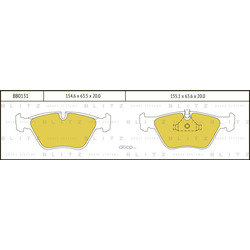 Колодки тормозные дисковые (Blitz) BB0131