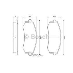 Колодки тормозные дисковые передние Bosch (Bosch) 0986424215