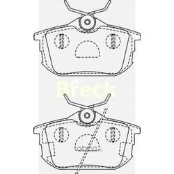 Комплект тормозных колодок, дисковый тормоз (BRECK) 218610070410