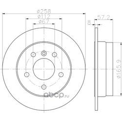 Тормозной диск (Hella) 8DD355111101