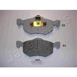 Комплект тормозных колодок, дисковый тормоз (Japanparts) PA322AF