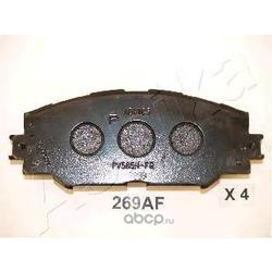 Комплект тормозных колодок, дисковый тормоз (Ashika) 5002269