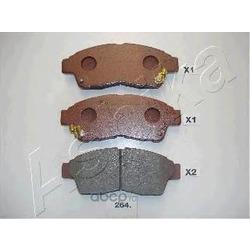 Комплект тормозных колодок, дисковый тормоз (Ashika) 5002264