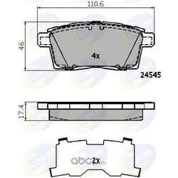 Комплект тормозных колодок, дисковый тормоз (Comline) CBP01731