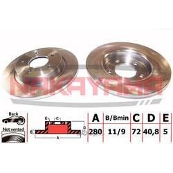 Тормозной диск (NAKAYAMA) Q4429
