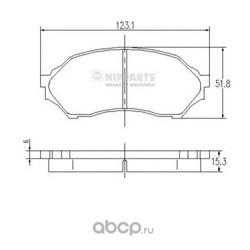Комплект тормозных колодок, дисковый тормоз (Nipparts) J3603047
