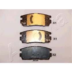 Колодки тормозные дисковые задние, комплект (Ashika) 510WW04