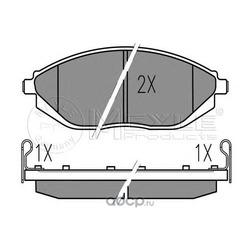 Комплект тормозных колодок, дисковый тормоз (Meyle) 0252526817W