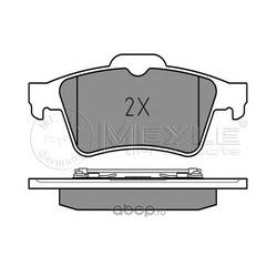 Комплект тормозных колодок, дисковый тормоз (Meyle) 0252348216
