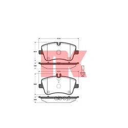 Колодки тормозные дисковые, комплект (Nk) 223345