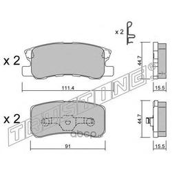 Комплект тормозных колодок, дисковый тормоз (Trusting) 4150