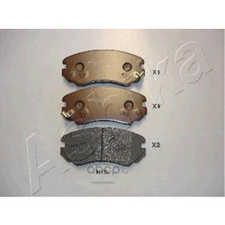Комплект тормозных колодок, дисковый тормоз (Ashika) 50H0010