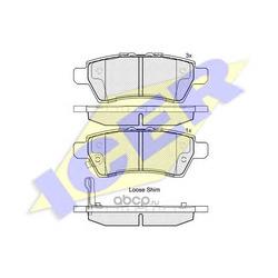 Колодки тормозные дисковые, комплект (Icer) 181934