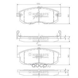 Комплект тормозных колодок, дисковый тормоз (Nipparts) J3601044