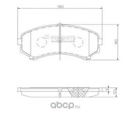 Комплект тормозных колодок, дисковый тормоз (Nipparts) J3605039