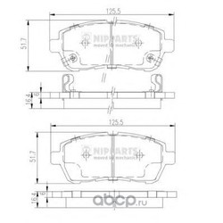 Комплект тормозных колодок, дисковый тормоз (Nipparts) N3606022