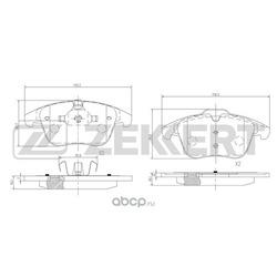 Колодки торм. диск. перед Citroen C5 I II 01- Ford Mondeo IV 07- S-Max 06- Peugeot 407 04- Volv (Zekkert) BS1128