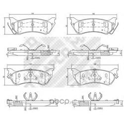 Комплект тормозных колодок, дисковый тормоз (Mapco) 6707