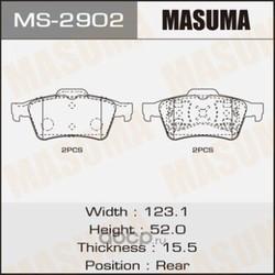 """Колодки дисковые """"Masuma (Masuma) MS2902"""