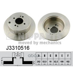 Тормозной диск (Nipparts) J3310516
