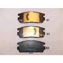 Колодки тормозные дисковые задние, комплект (Japanparts) PPW04AF