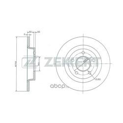 Диск.торм.зад Mazda 3 I II 03- Mazda 5 I II 05- (Zekkert) BS5254