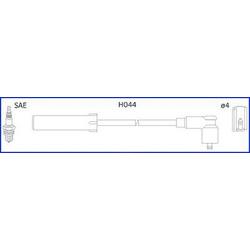 Комплект проводов зажигания (Huco) 134516