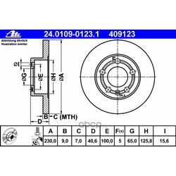 Тормозной диск (Ate) 24010901231