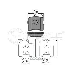 Комплект тормозных колодок, дисковый тормоз (Meyle) 0252191915