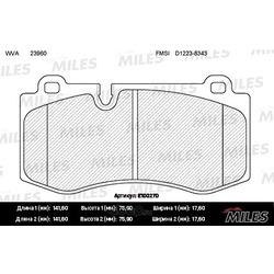 Колодки тормозные MERCEDES W221/W211/C219/C216/R230 передние (Miles) E100270